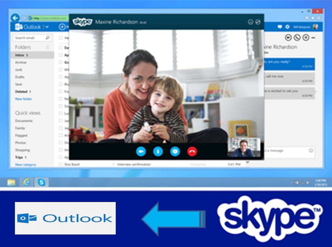 Skype in Outlook inbok