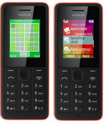 Nokia 106 and Nokia 107