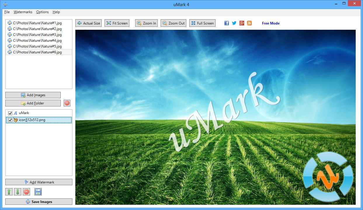 how to make a watermark only appear on one page
