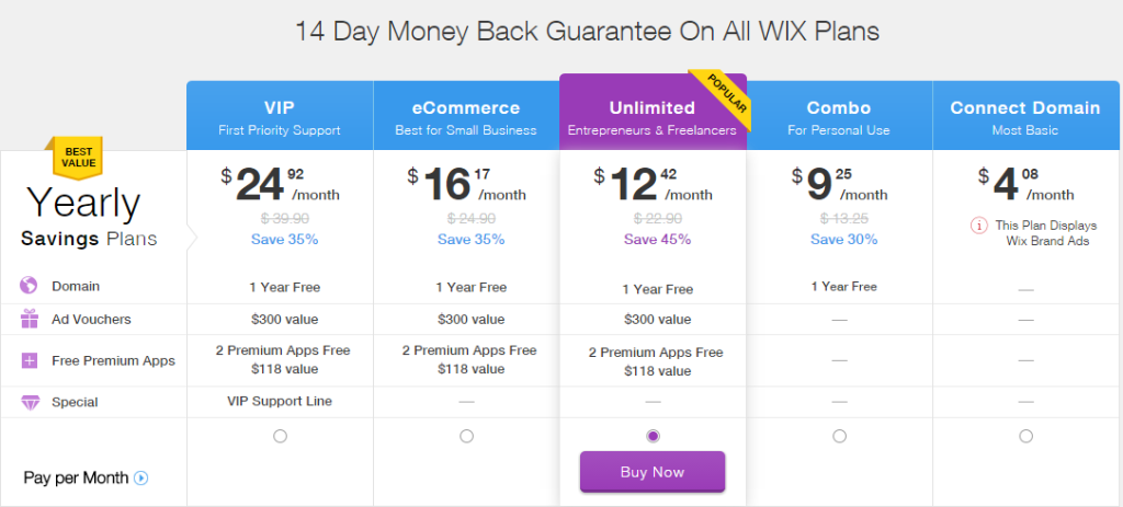 wixstores-pricing