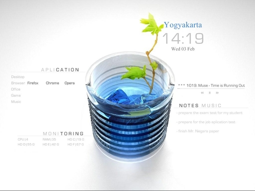 blue-fresh-rainmeter-skin