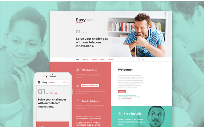communications-responsive-website-template