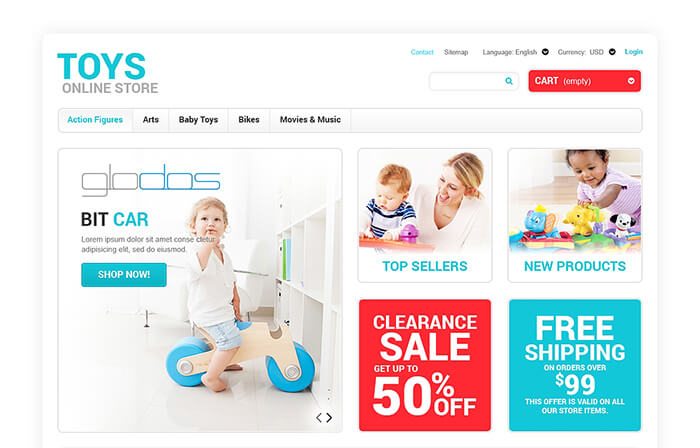 Toys for any age PrestaShop Theme