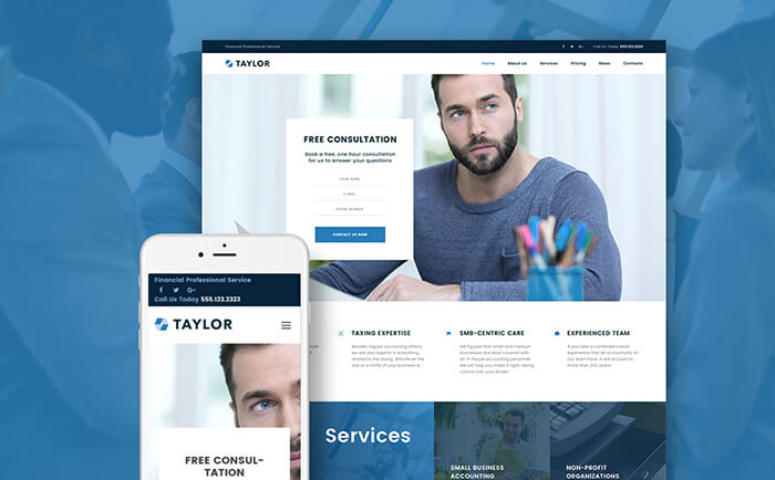 financial-wordpress-template